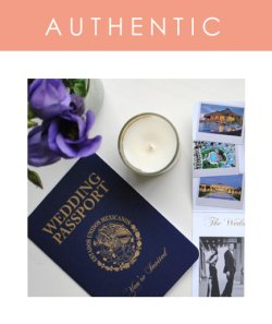 Custom Passport Wedding Invitations created with a cover to suit your destination or nationalities