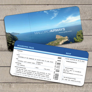 Airline Ticket Wedding Stationery