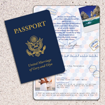 Passport Wedding Stationery