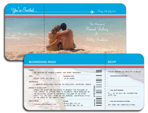 Travel Ticket Wedding Invitation Template New Wedding – Airplane Ticket Invitations