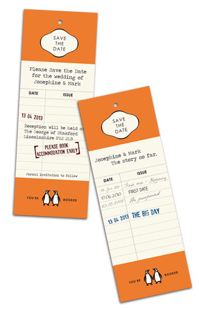 Library Bookmark Save the Date