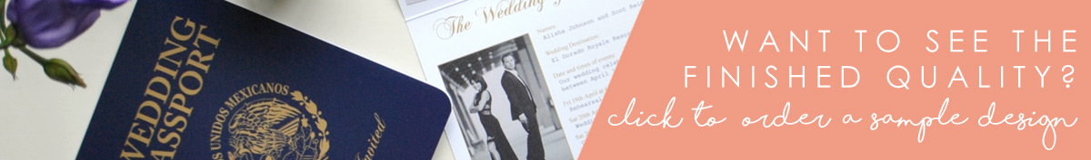 Order a sample from us so you can see the finished quality of our stunning stationery