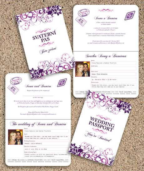 bilingual wedding invitation, Wedding invitations