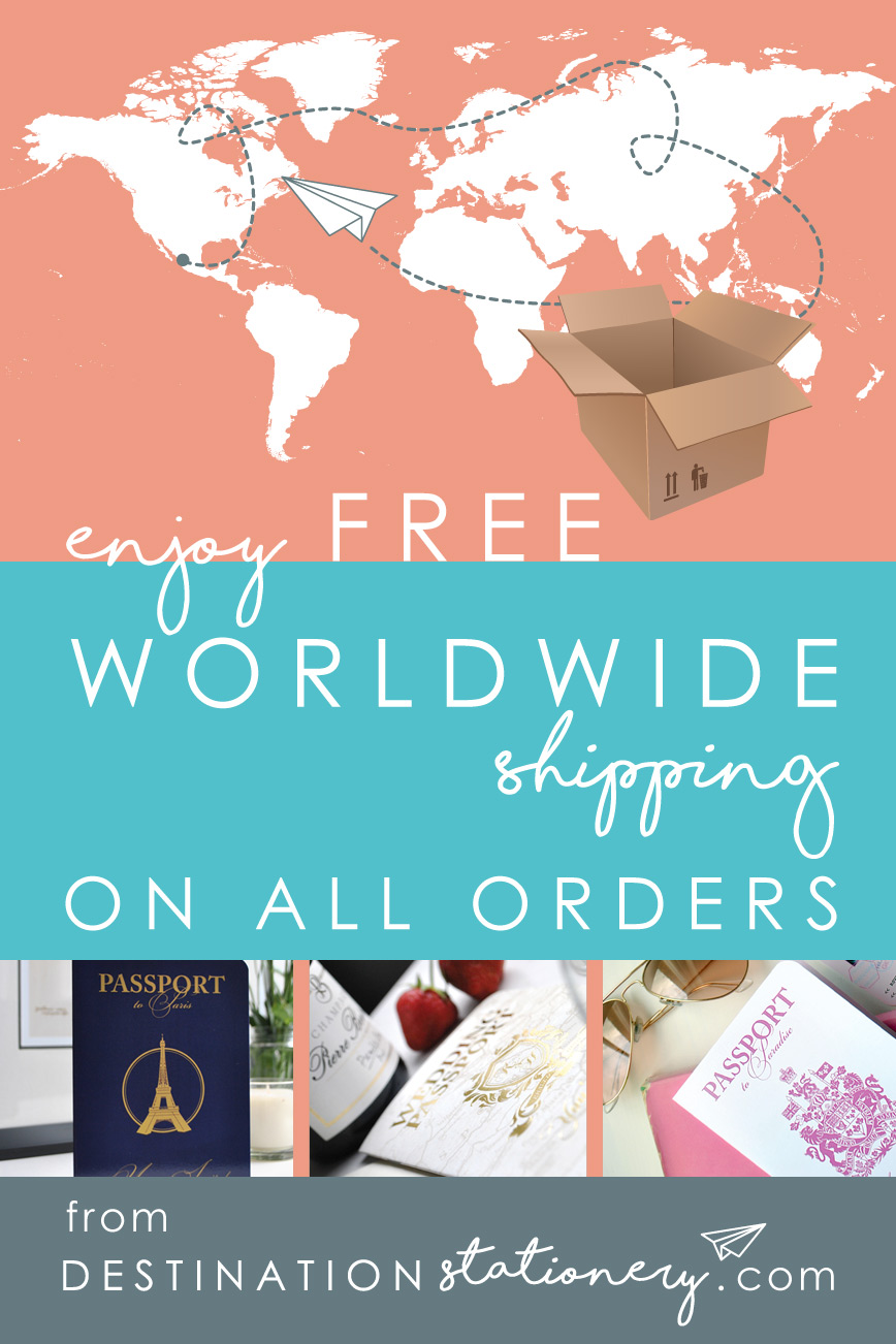 Don't forget that there is FREE WORLDWIDE Shipping on all orders from DestinationStationery.com
