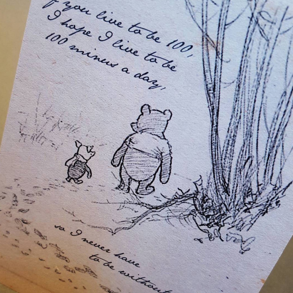 Winnie the pooh inspired wedding invitation