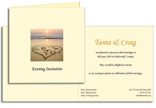 Beach theme invitation