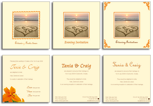 Invitation Layouts