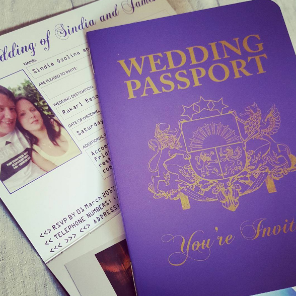 Latvian Passport Wedding Invitation