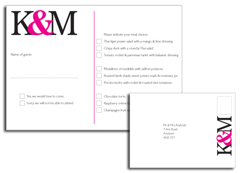 Wedding RSVP example designs – Sample Rsvp Wedding Cards