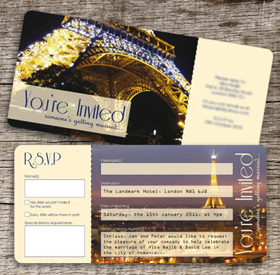 Paris Airline Ticket Invitation