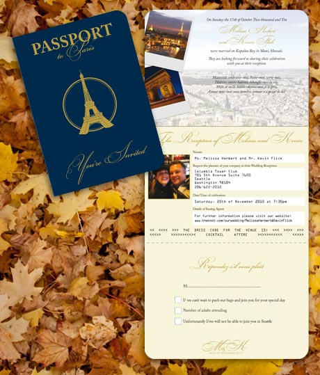 Paris Passport Invitation