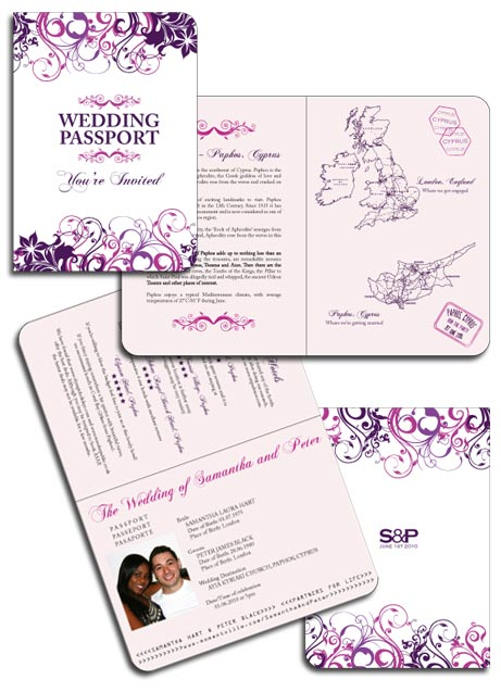 Floral Passport Invitation