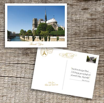 Paris Thank You Postcard