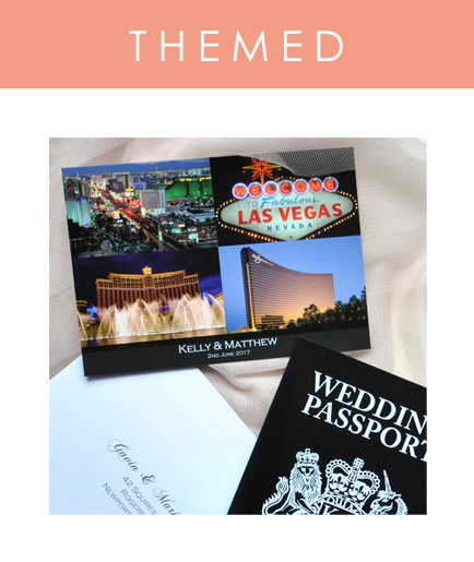 Create a custom themed Postcard to match your other items of destination wedding stationery. Match an RSVP postcard with a passport invitation for the perfect wedding abroad stationery