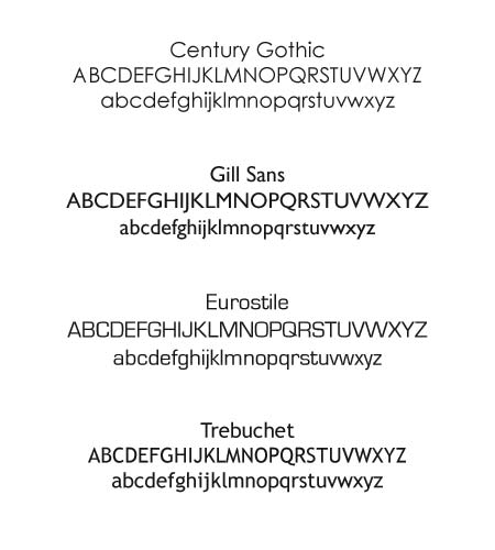 Sans Serif Fonts Have A More Contemporary Feel. They Are Also Easier To  Read At Small Sizes And Where There Is Large Amount Of Text E.g. For  Directions Or ...