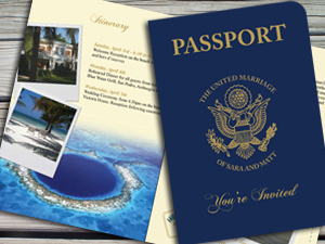 US Passport Invitation for Belize Wedding