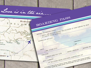 Vintage Airline Ticket Invitation