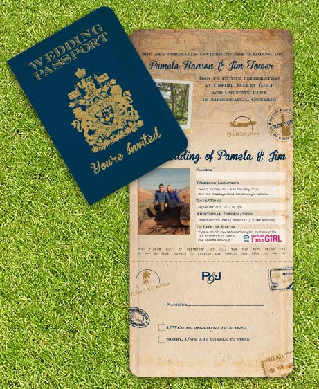 Vintage wedding invitations for Stamps for wedding invitations canada