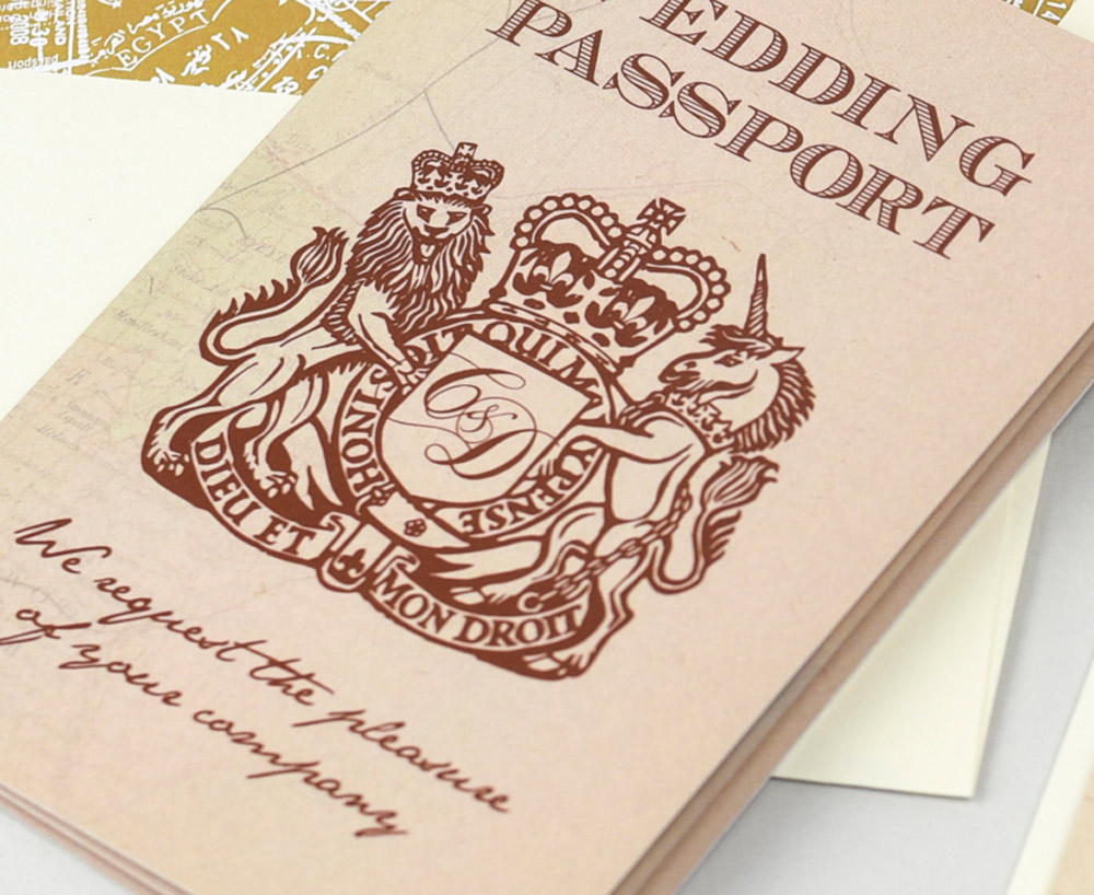 Vintage Rustic UK Passport
