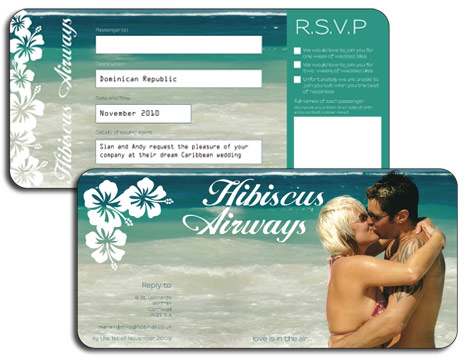 Personalised Airline Ticket Invitation