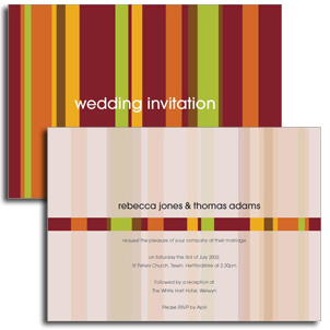 Autumn Stripes Wedding Invitation