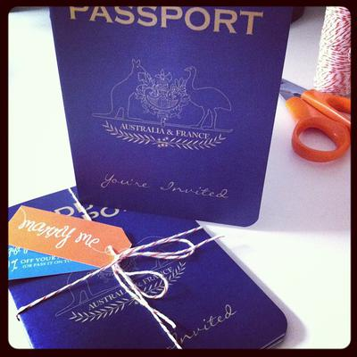 Australian and French Passport Invitation