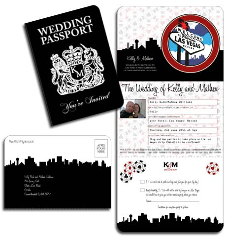 las vegas wedding invitations - the ultimate sin city stationery!, Wedding invitations