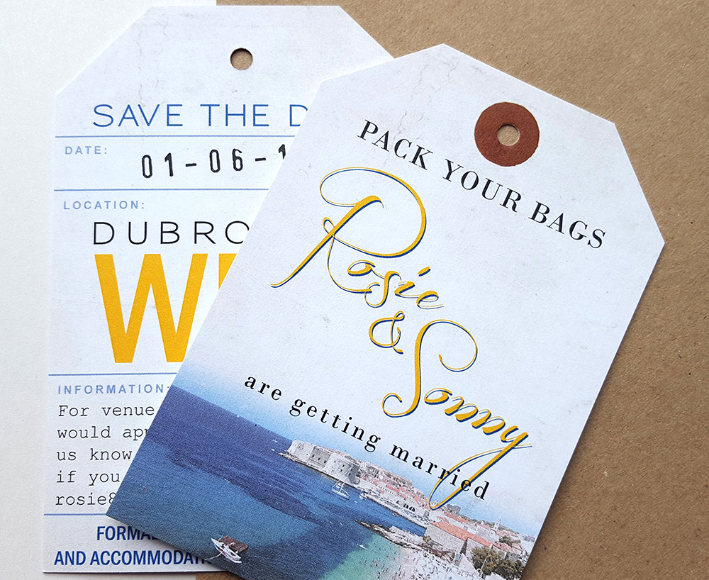 Dubrovnik Luggage Tag Save the Date