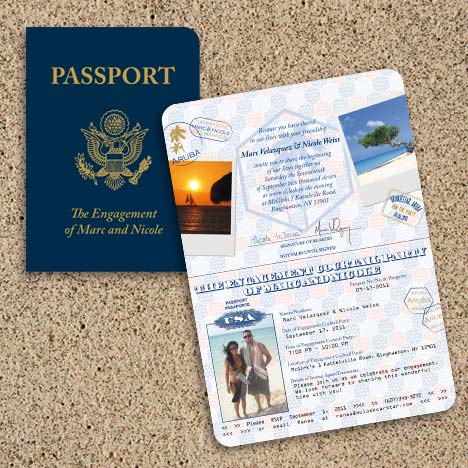 Engagement Party Passport
