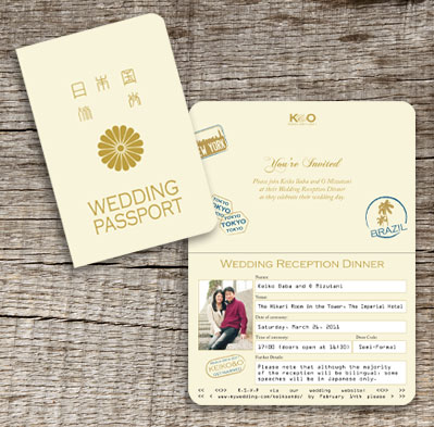 Japanese Wedding Invitations