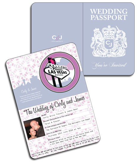 Las Vegas Passport Invitation