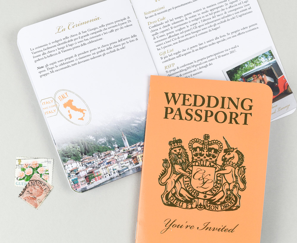 British Passport with Gold Foil Cover