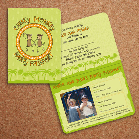 Passport Party Invitation