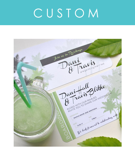 Custom designed wedding stationery for your wedding abroad is our speciality