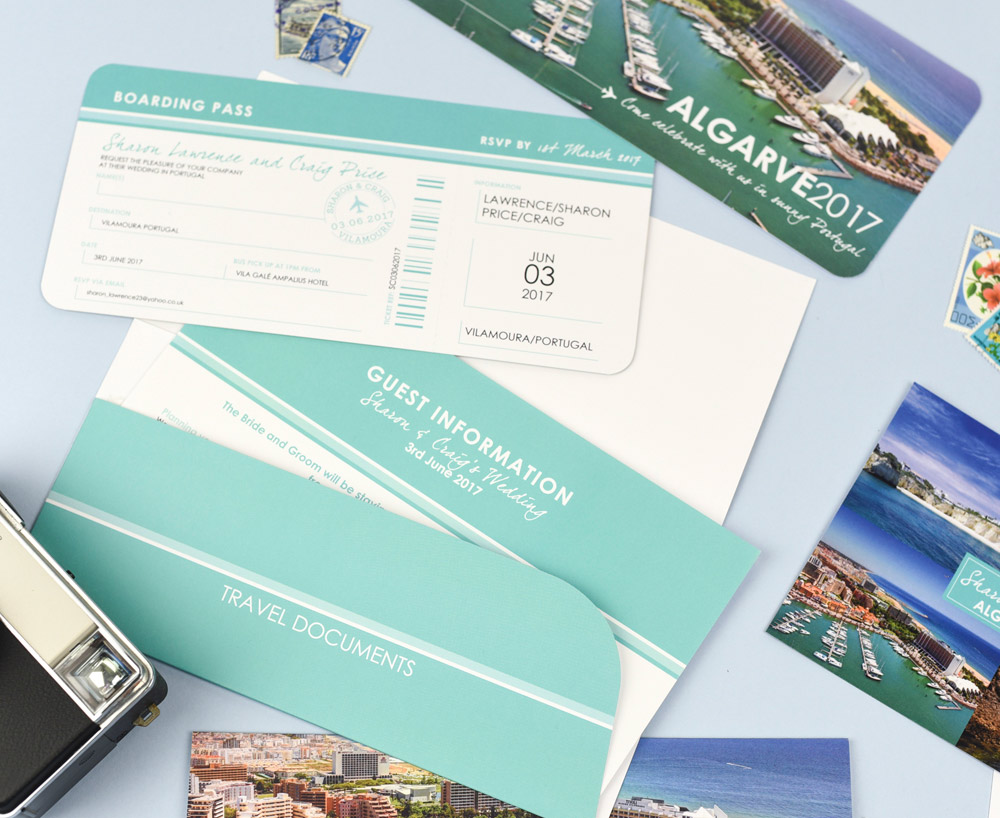 Stylish Airline Ticket with Matching Travel Wallet