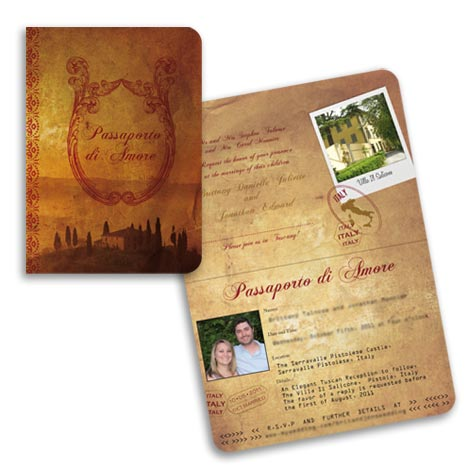 Tuscany Passport Invitation