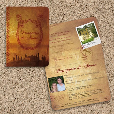 Tuscany Wedding Passport