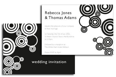 Black and White Wedding Theme
