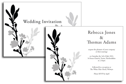 Monochrome Invitation