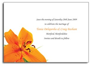 Lily Save the Date Card