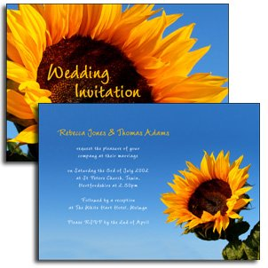 Sunflower Invitation